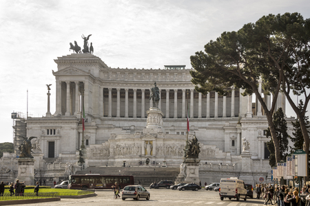 emmanuel: Rome, Italy- April 02, 2014:Tourists visiting the Altare della Patria (National Monument to Victor Emmanuel II)