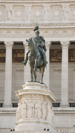 vittorio emanuele:  The Altare della Patria (National Monument to Victor Emmanuel II) .Rome.Italy