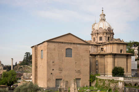 vie sociale: Forum romain. Ici il y avait la vie sociale de la ville. Rome. Italie
