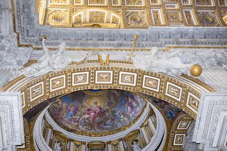 Vatican,Italy-April 04,2014:Ancient frescoes
