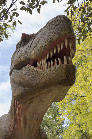 cretaceous: Tyrannosaurus (The Late Cretaceous Period) in Rostov-on -Don