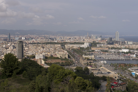 View of Barcelona from the hill.2014
