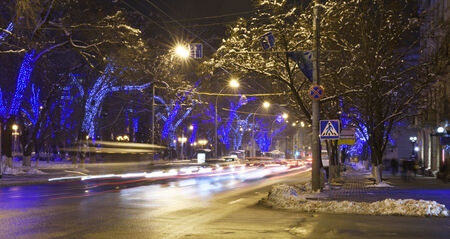 Rostov-on-Don in the Christmas illuminations