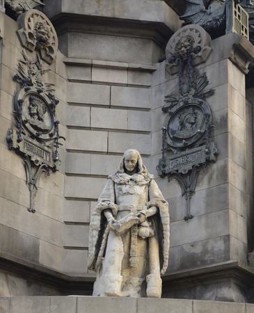 Columbus Monument in Barcelona, Spain photo