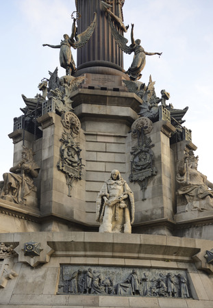 Columbus Monument in Barcelona, Spain photo