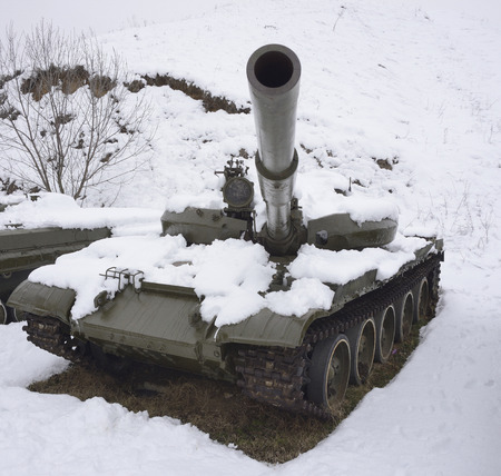 Wounded Russian tank