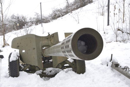 Gun, abandoned on the battlefield