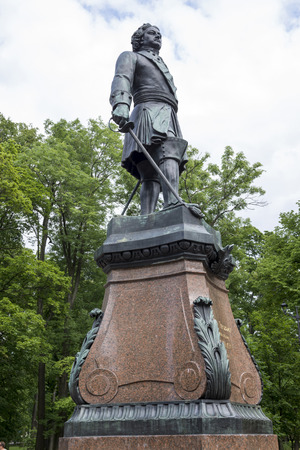 founder: RUSSIA; KRONSTADT-JULY 9- Monument to the founder of Kronstadt Peter 1 on July 9,2015 in Kronstadt