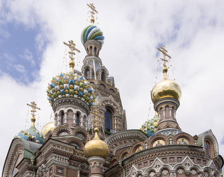 Church of the Resurrection (Savior on Spilled Blood) .1883-1907. Architects: A. A.Parland, Archimandrite Ignatius (I.V.Malyshev). St. Petersburg Stock Photo