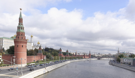 made russia: View of the Kremlin from Moscow - the river