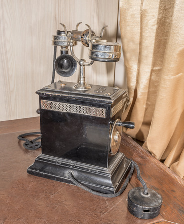 dial plate: Vintage Telephone Table, 1920