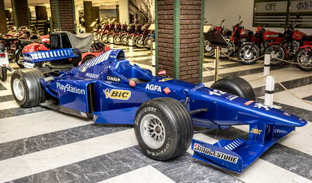 formula 1: MOSCOW, RUSSIA- DECEMBER 15- Race car Formula 1 at the Museum of technique V.Zadorozhnyj on December 15; 2015 in Moscow Editorial