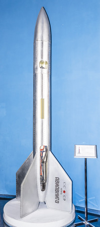 experimental: MOSCOW; RUSSIA- OCTOBER 06- The First Soviet Experimental Stratospheric AviaVNITO Rocket in Space Museum on October 06; 2015 in Moscow Editorial