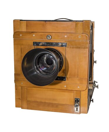 18 year old: Photo camera an old, wooden, frame size 18 x 24 cm. Production year 1973