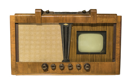 television production: Electronic television. Production in 1948 .(Leningrad) Is isolated on white