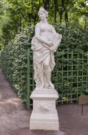 allegory: RUSSIA; SAINT-PETERSBURG - JULY 5 - The sculpture Allegory of mercy in the Summer Garden on July 5; 2015 in St. Petersburg