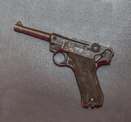 luger: MOSCOW, RUSSIA- DECEMBER 16- Gun Luger system (Parabellum) at the Central Museum of the armed forces  on December 16; 2015 in Moscow Editorial
