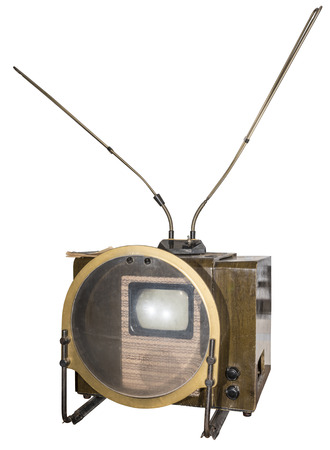 serial: The first mass television serial in the USSR (1949). Is isolated on white