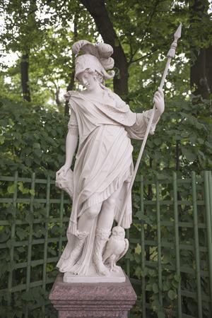 minerva: RUSSIA; SAINT-PETERSBURG - JULY 5 -The sculpture Minerva in the Summer Garden on July 5; 2015 in St. Petersburg Editorial