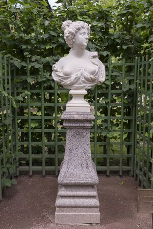 allegory: RUSSIA; SAINT-PETERSBURG - JULY 5 - The sculpture Allegory of purity in the Summer Garden on July 5; 2015 in St. Petersburg