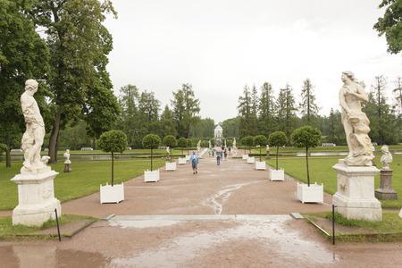 tsarskoye: RUSSIA; SAINT-PETERSBURG- JULY 10- Tsarskoye Selo in the rain on July 10; 2015 in St. Petersburg