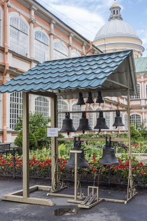 nevsky: The Bell tower the Alexander Nevsky Lavra in St. Petersburg