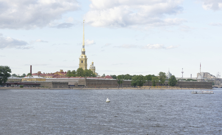 neva: View of the Neva in St. Petersburg Editorial