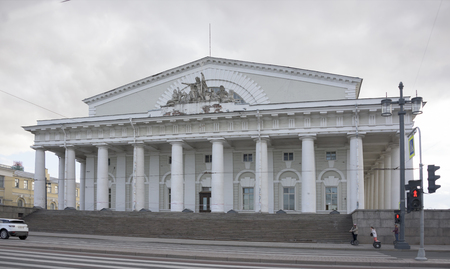 transitional: RUSSIA; SAINT-PETERSBURG - JULY 5 - View of the Stock Exchange building on July 5; 2015 in St. Petersbur Editorial