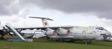 MONINO, MOSCOW REGION, RUSSIA- OCTOBER 8- IL-76MD- Military transport aircraft (1971) .Max.speed, km  h-825 on October 8; 2015 in Central Museum of the Russian Air Force, Monino Editorial
