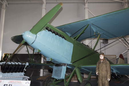 hight tech: MONINO, MOSCOW REGION, RUSSIA- OCTOBER 8-  R-5 - reconnaissance aircraft (1928) .Max. speed,km  h-250 on October 8; 2015 in Central Museum of the Russian Air Force, Monino