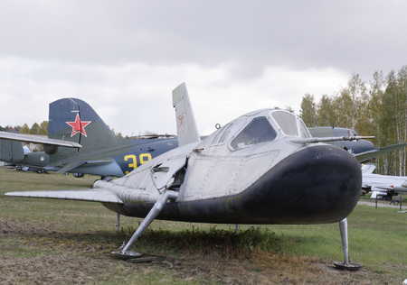 MONINO, MOSCOW REGION, RUSSIA- OCTOBER 8-  EPOS- Analog of experimental piloted orbit aircraft(1976) on October 8; 2015 in Central Museum of the Russian Air Force, Monino Redakční