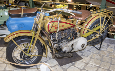 harley davidson: MOSCOW, RUSSIA- DECEMBER 15- Motorcycle Harley Davidson at the Museum of technique V.Zadorozhnyj on December 15; 2015 in Moscow Editorial