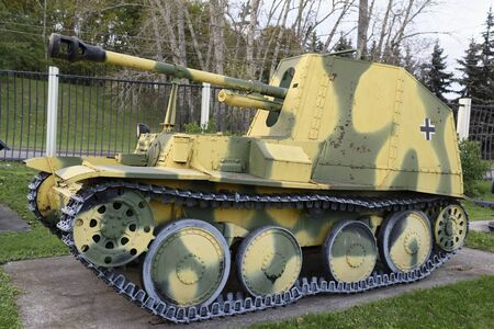 propelled: MOSCOW, RUSSIA- OCTOBER 7- Marder III- Ausf.M self propelled gun(Germany ),1943.Weight,t-10,5 in the Central Museum of the Great Patriotic War on October 7; 2015 in Mosco