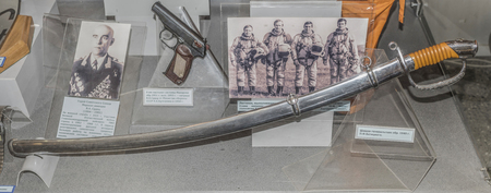sabre: MOSCOW, RUSSIA- DECEMBER 16- Sabre generals sample of 1940, belonged to the Marshal of the Soviet Union P.F.Batitsky at the Central Museum of the armed forces  on December 16; 2015 in Moscow