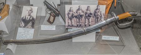 scheide: Moskau, Russland Dezember 16- Sabre Generäle Stichprobe von 1940, gehörte dem Marschall der Sowjetunion PFBatitsky im Zentralmuseum der Streitkräfte am 16. Dezember; 2015 in Moskau