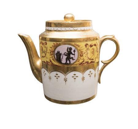 teakettle: Antique teakettle 19th century. isolated on white