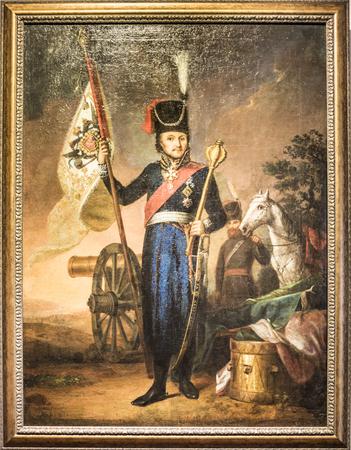 generals: STAROCHERKASSKAYA,ROSTOV REGION, RUSSIA- SEPTEMBER 27- Vintage painted portrait ataman M.I .Platov.The artist V.A .Tropinin, early 19th century, in Museum-Reserve, in September 27, 2015 in Starocherkasskaya Editorial