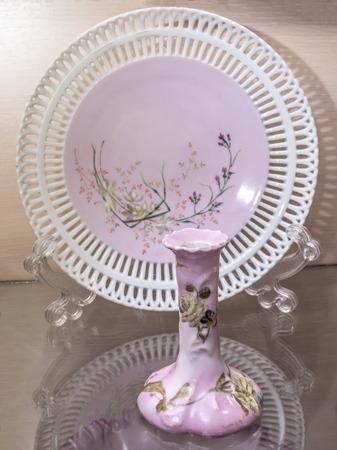 the 19th century: Antique flower vase, 19th century Stock Photo