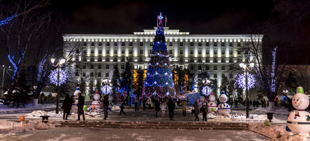 festivities: Christmas festivities in the regional administration building in Rostov-on-Don