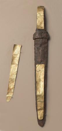 1st century: Dagger - 1st century AD. Iron, gold