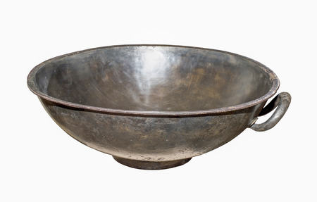 cult: AZOV, RUSSIA- AUGUST 29- Cult utensils. Basin.1 century AD. Silver in the museum - reserve on August 29;2015 in Azov