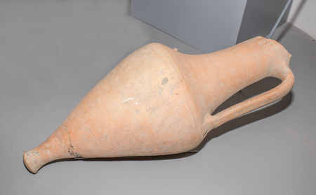 azov: AZOV, RUSSIA- AUGUST 29- Amphora. 1st century BC. Clay in the museum - reserve on August 29; 2015 in Azov
