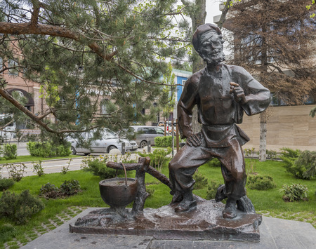 laureate: ROSTOV-ON-DON, RUSSIA- MAY 01- Monument Shchukaron the work of Mikhail Sholokhov. Sculptor N. Mozhaev on May 01,2015 in Rostov-on-Don Editorial