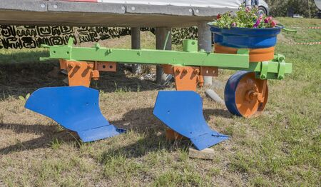 plough: Plough for processing agricultural fields Stock Photo