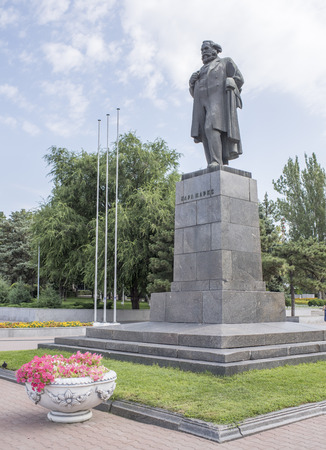 Rostov-on-Don, Russia -August 06,2016: Monument to Karl Marx - a monument located on the Karl Marx Square. Established in 1959,sculptor M. Altschuler