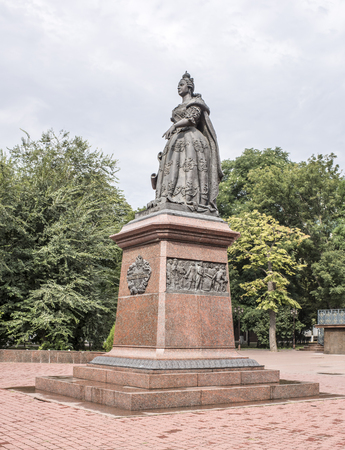 empress: Rostov-on-Don, Russia -August 14,2016: Monument to Empress Elizabeth. Sculptors: S.Oleshnya, A.Dementev Editorial