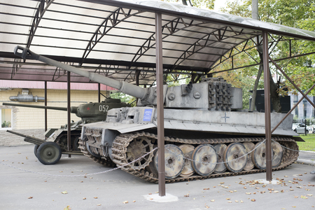 working model: Moscow, Russia -September 04,2016: Heavy German tank T-VI H Tiger (working model) in Mosfilm Museum