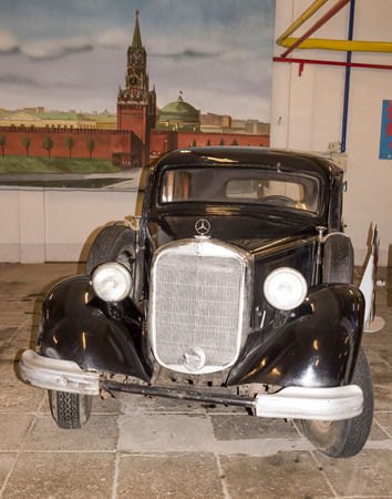typ: Moscow, Russia -September 04,2016: Car Mercedes-Benz (1938) in Mosfilm Museum Editorial