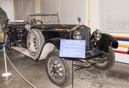 supercharged: Moscow, Russia -September 04,2016: Car Rolls-Royce (1913) in Mosfilm Museum