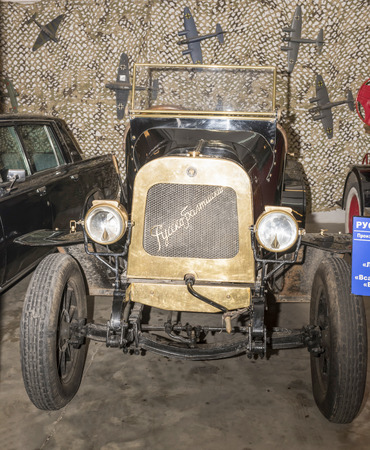 Moscow, Russia -September 04,2016: Car Russo-Balt K12-20 (1911) in Mosfilm Museum Editorial